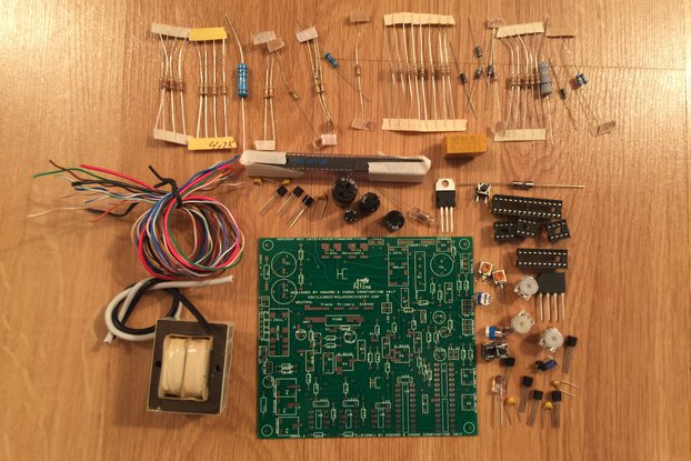 OSC4.4 original vector type oscilloscope clock kit