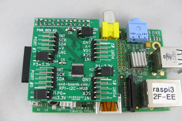 I2C Multiplexer for the Raspberry Pi (RPI-I2C-HUB)