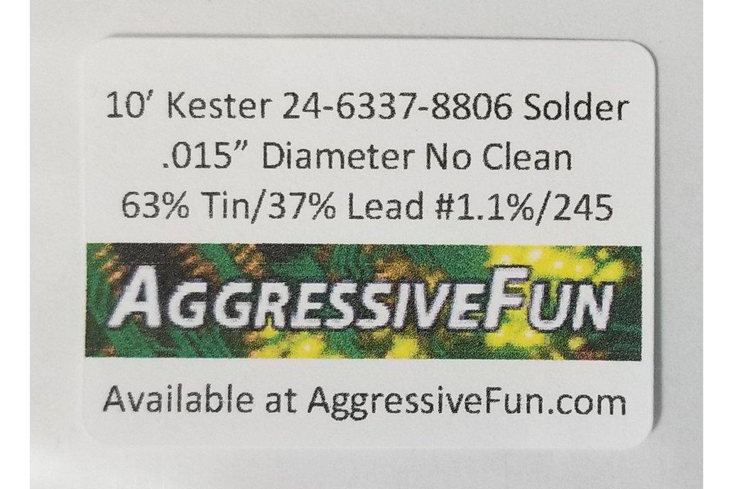 """Kester No Clean 245 Core Solder .031/"""" 63//37 Eutectic 66//245 24-6337-8802 30ft"""