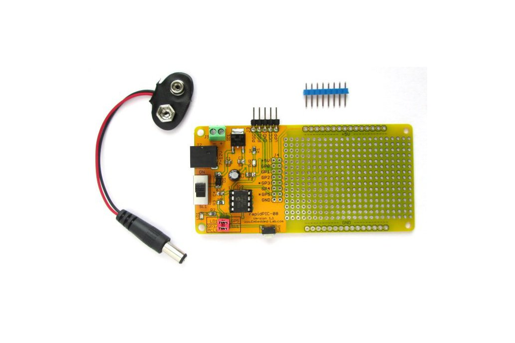PIC12F series microcontrollers project board 1