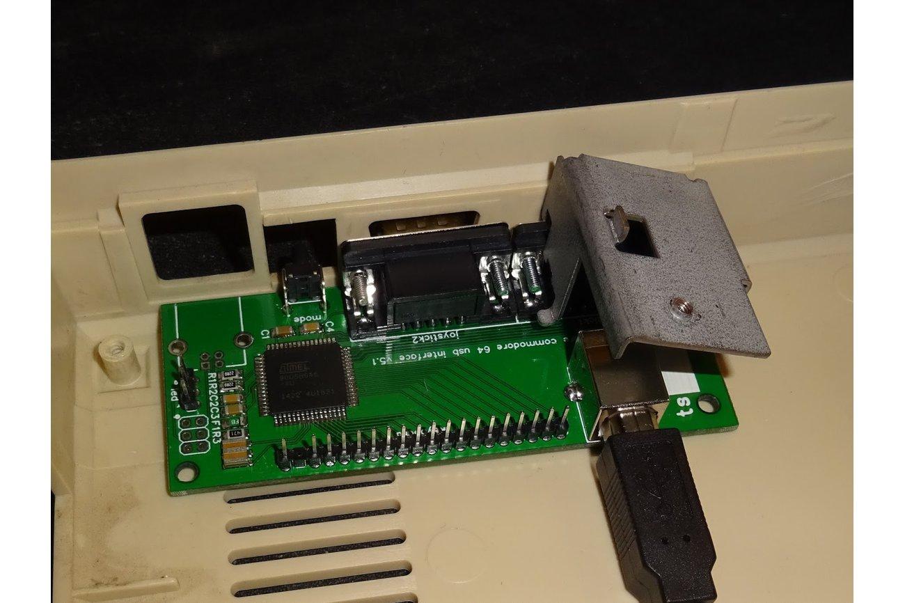 Commodore 64 USB keyboard and dual joystick kit