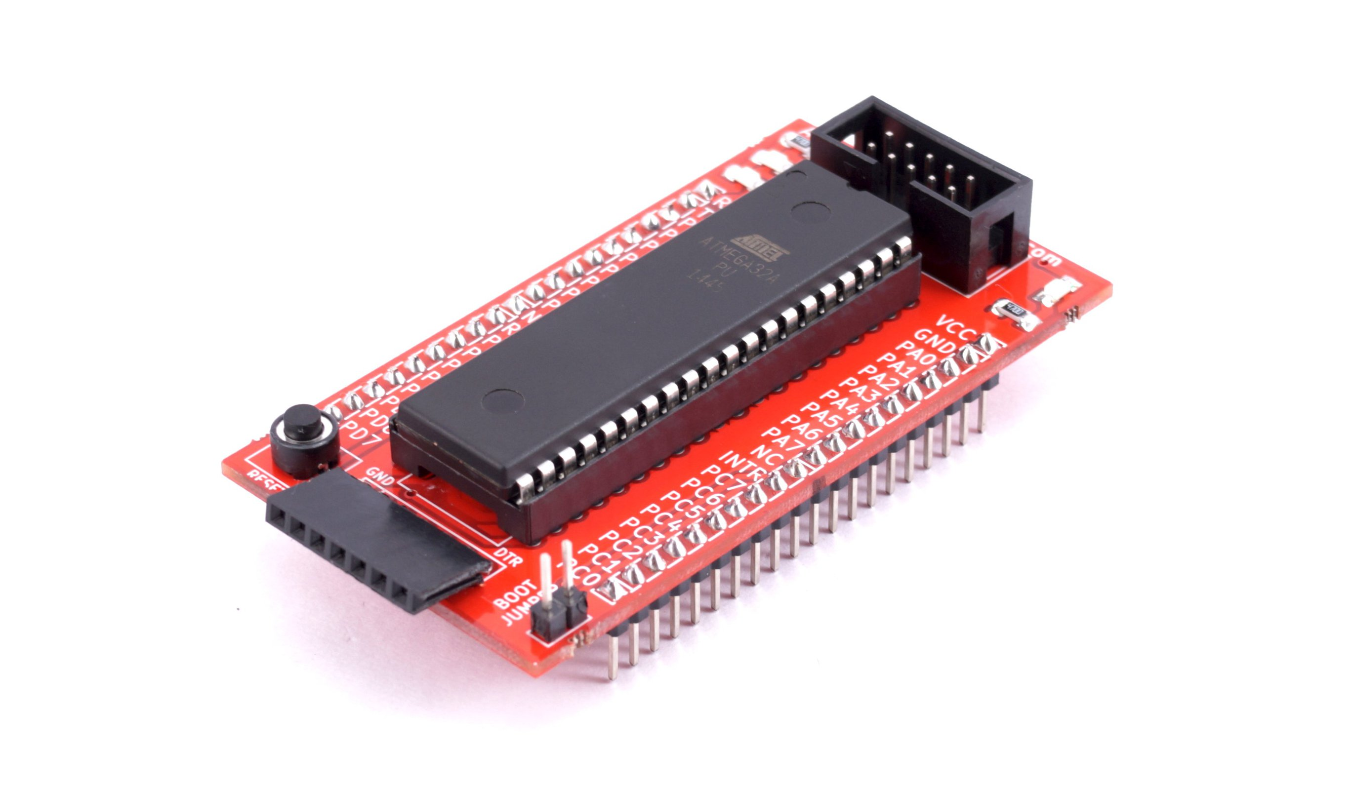 Avr 40 Pin Breakout Board With Atmega32 From Exploreembeddedcom On How To Configure Watchdog Timers Of Microcontroller Atmega16 3