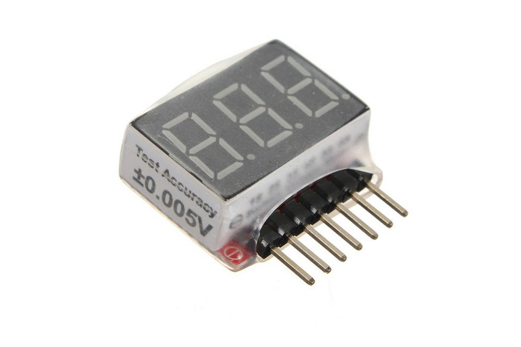 1S-6S Battery Voltage Meter Checker Low Voltage 1