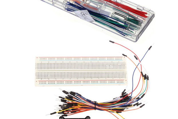 MB-102 Solderless Breadboard + Power Supply + Jump