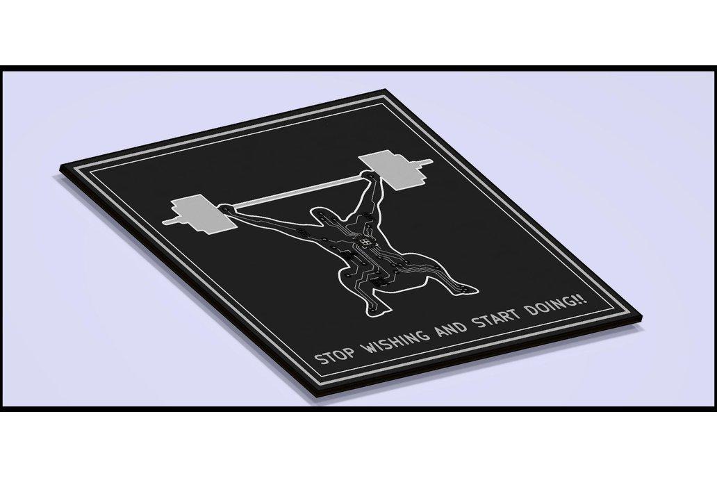 CrossFit PCB coaster 1