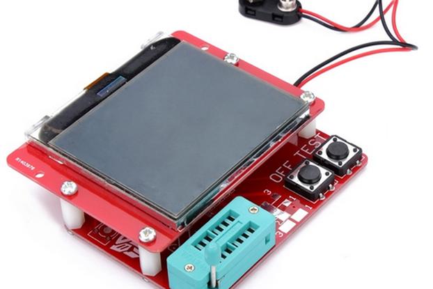 12864 LCD Mega328 Transistor Tester Capacitance ESR Meter Diode Triode MOS/PNP LCR
