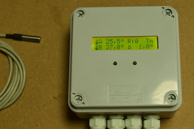 Differential thermostat for DIY solar systems