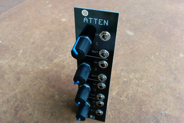 Buffered Attenuator (Eurorack PCB Set)