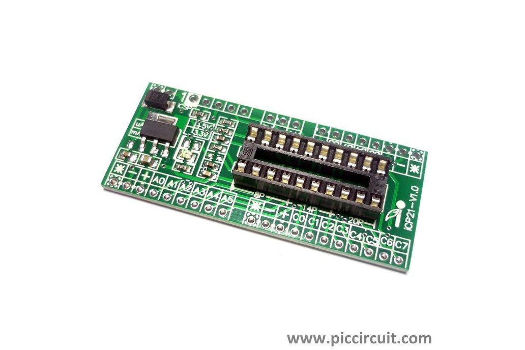 iCP21- Microchip 8, 14 & 20 pins PIC16  IO Board 3