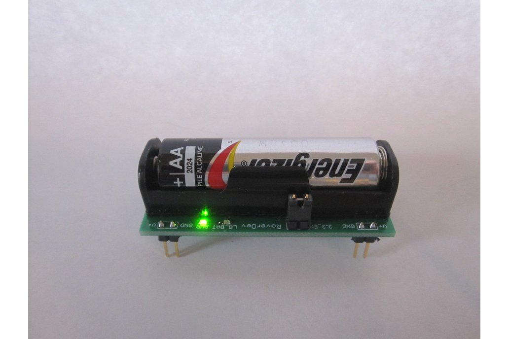 BooSTick - 3.3/5 V breadboard power from one AA 3
