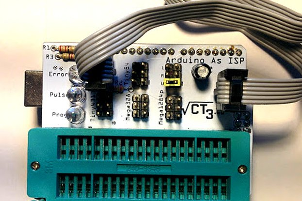 Arduino as ISP shield Atmega328/1284 Attiny85