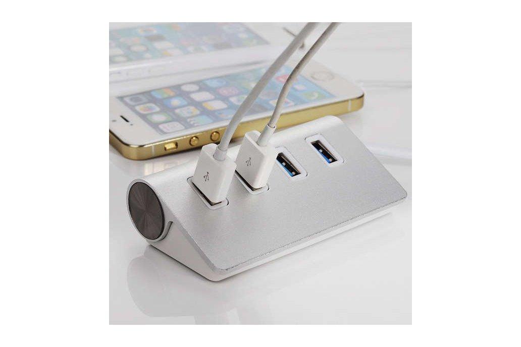 Hi-Speed Aluminum USB 3.0 4-Port Splitter Hub Adap 7
