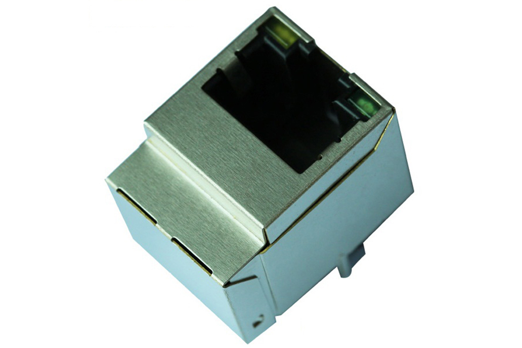 1840419-3 10/100 Base-T Vertical RJ45 Connector 1