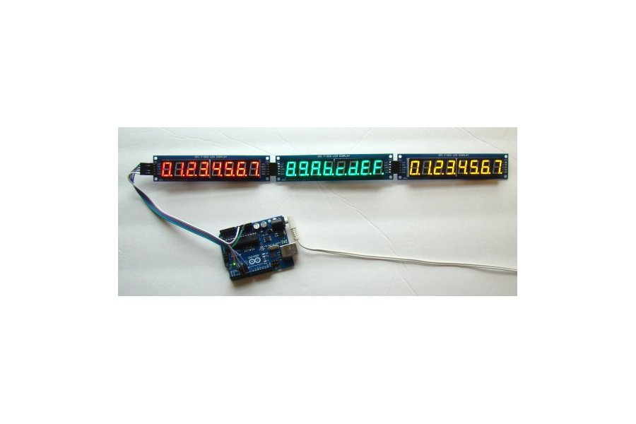 Serial 8-digit 7-segment LED display (Red)