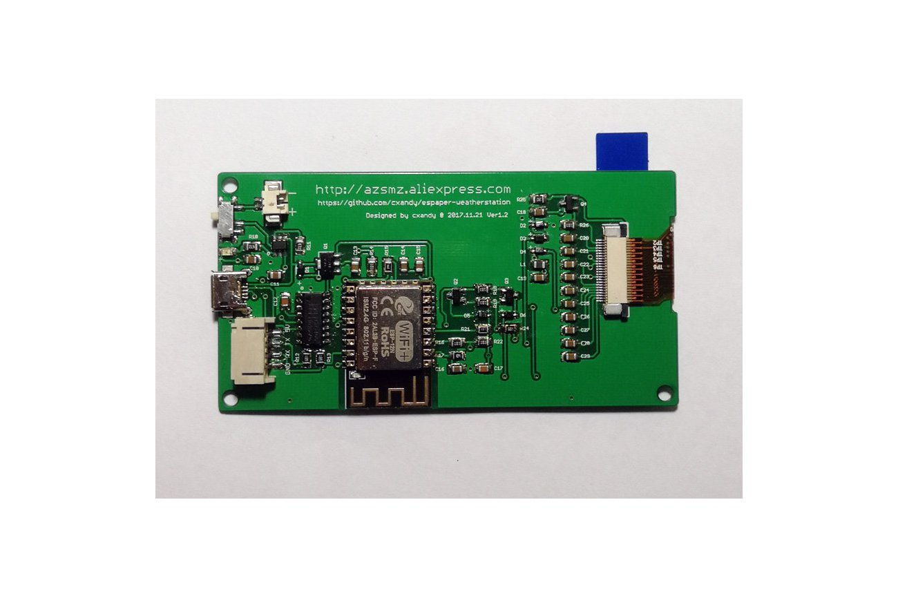 "AZSMZ EPaper 2.9"" with USB-to-Serial"
