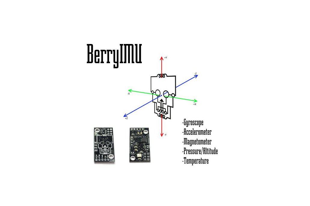 BerryIMUv2-accelerometer, gyroscope, magnetometer 2