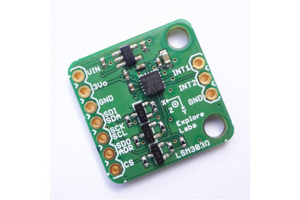 LSM303D 3D Accelerometer + 3D Magnetometer Board 1