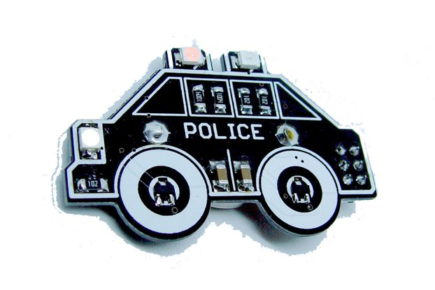 Police car - LED learn to solder kit