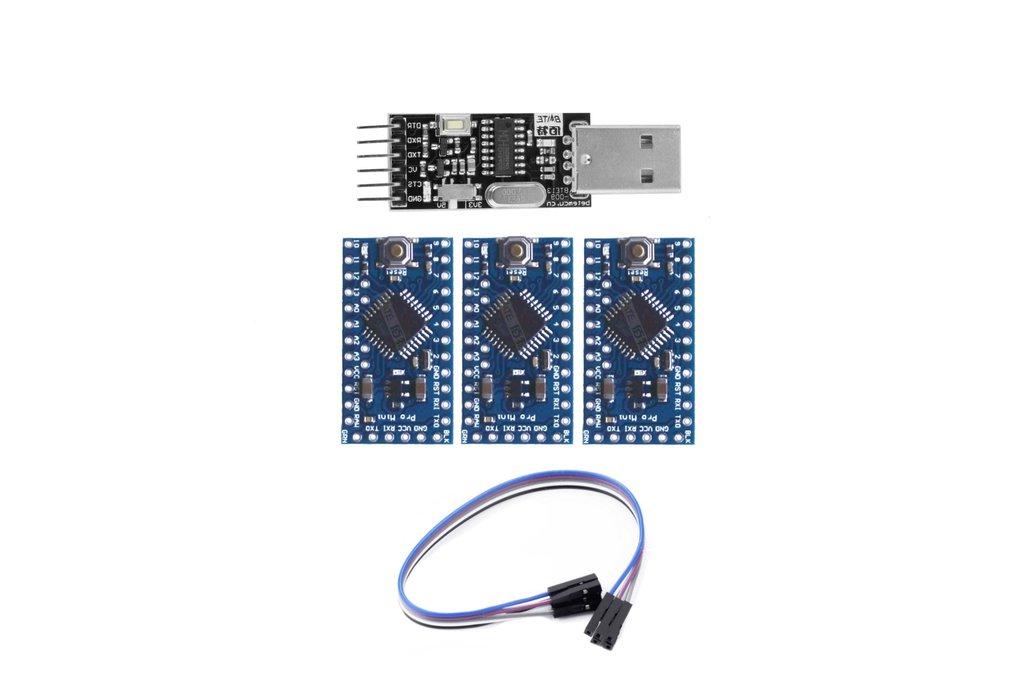 3x Arduino Pro Mini Atmega328 ATMega 328 5V/16MHz 1