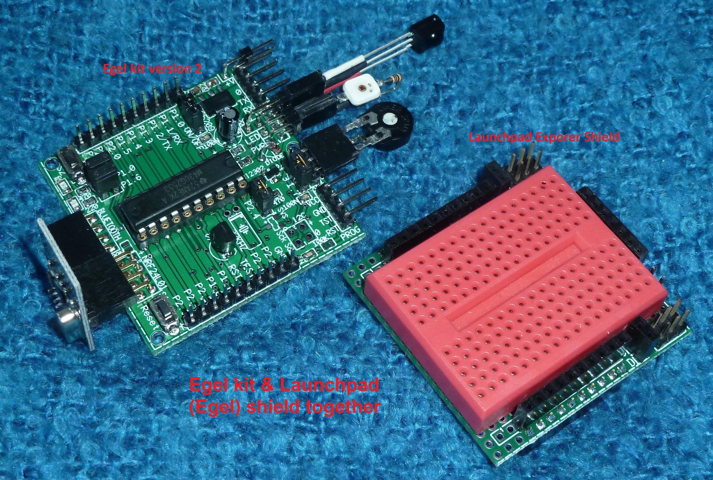 Egel kit board set for MSP430G2553 (no parts!) from Elektrische ...