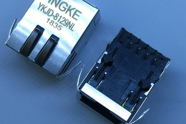 ARJC02-111008B 1 Port RJ45 Magnetic Modular Jacks
