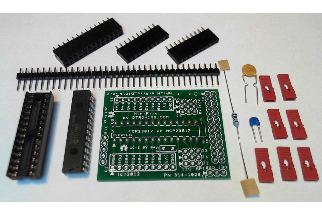 Raspberry PIIO - DIO16 16ch SPI Port Expander Kit 1