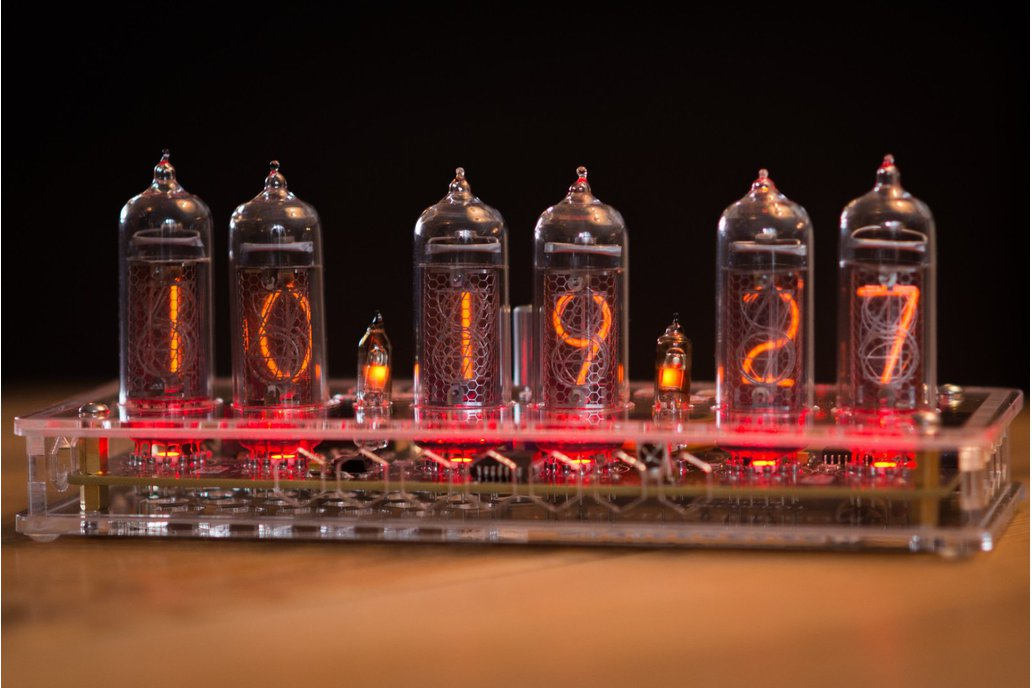 IN-14 Nixie Tube Clock Transparent Enclosure 1