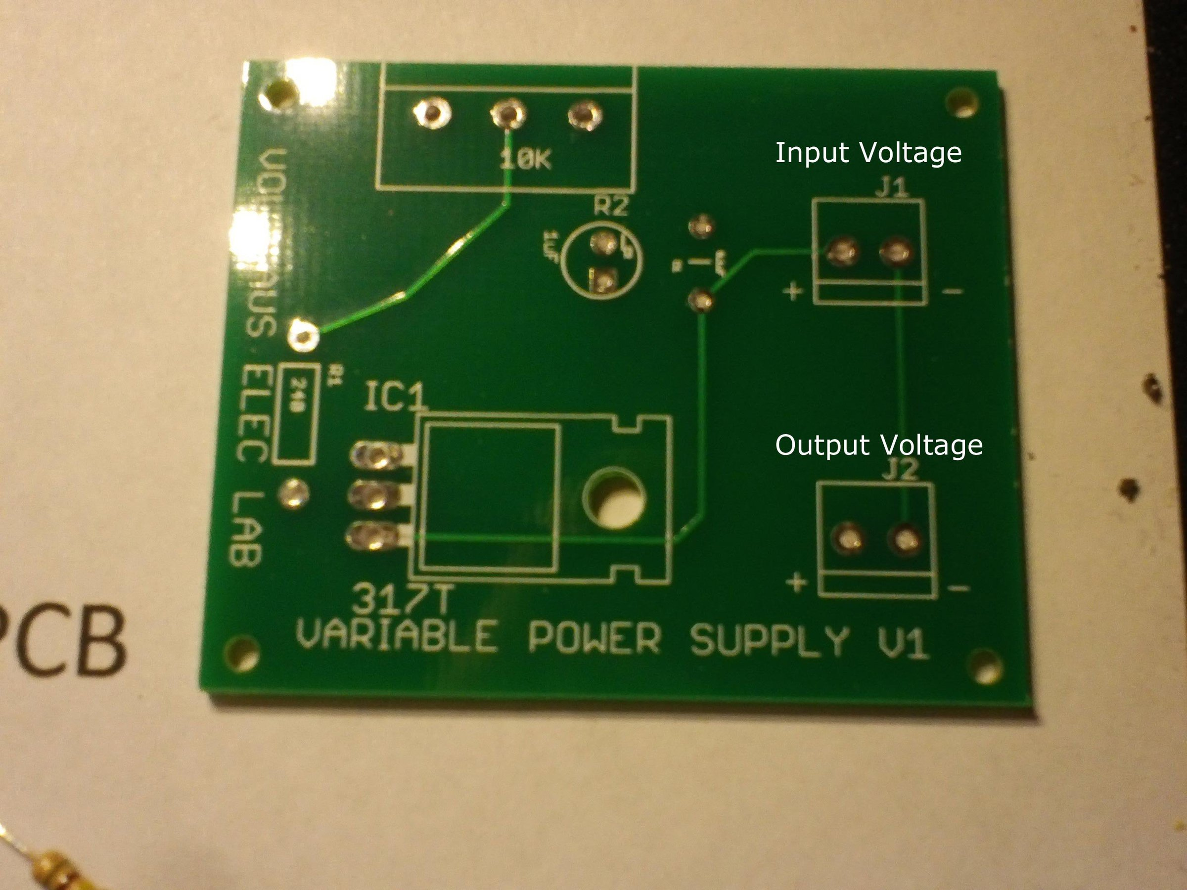Lm317t Variable Power Supply Kit From Volthaus Electronics 3