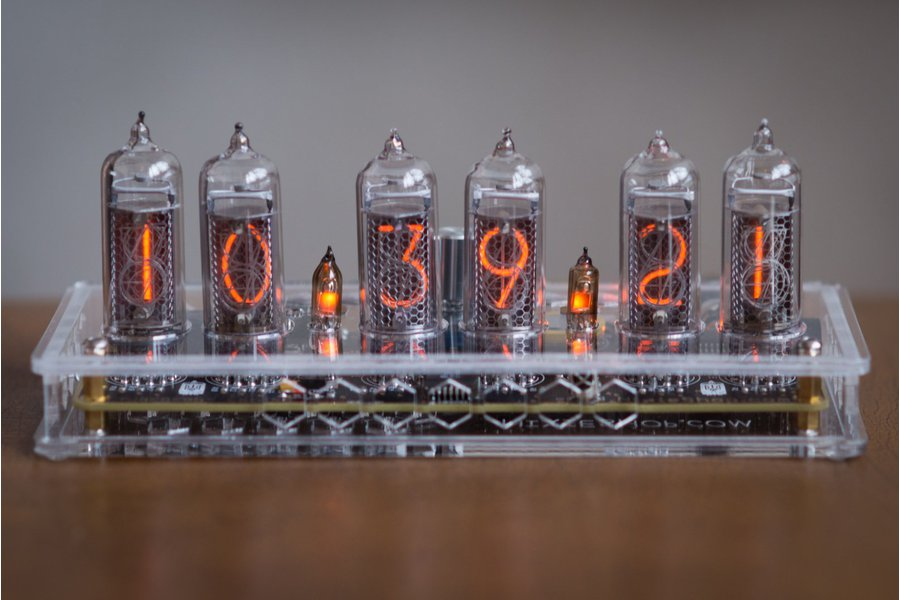 IN-14 Nixie Tube Clock Transparent Enclosure