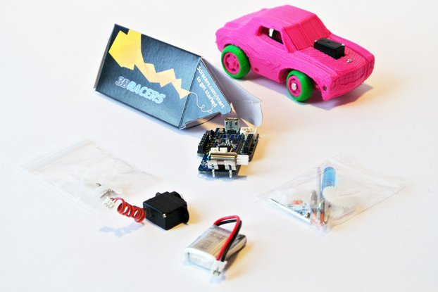 3DRacers - 3D Printed RC Car Kit - BLE + Arduino