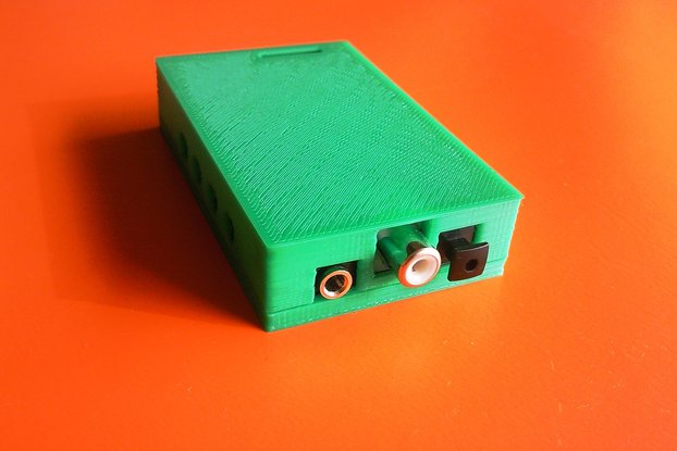 3D printed plastic housing for  USB audio card