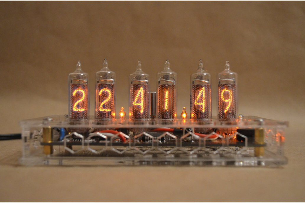 IN-16 Nixie Tube Clock Transparent Enclosure 1