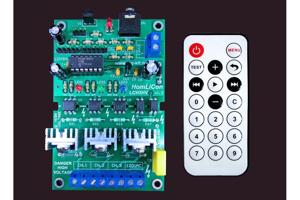 Color Organ Sound Activated Light 3Ch  120/230VAC 1
