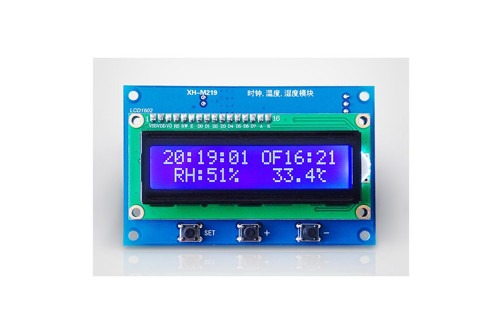 Clock Temperature Humidity Tester with LCD (13100) 2
