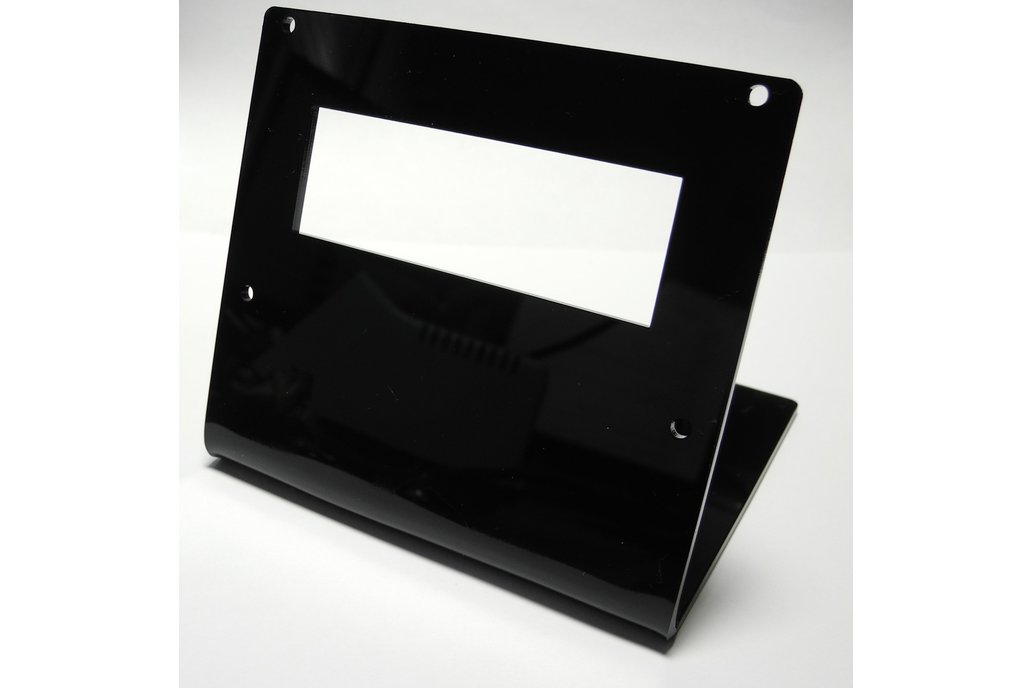 20x4 Acrylic LCD Stand Black 1
