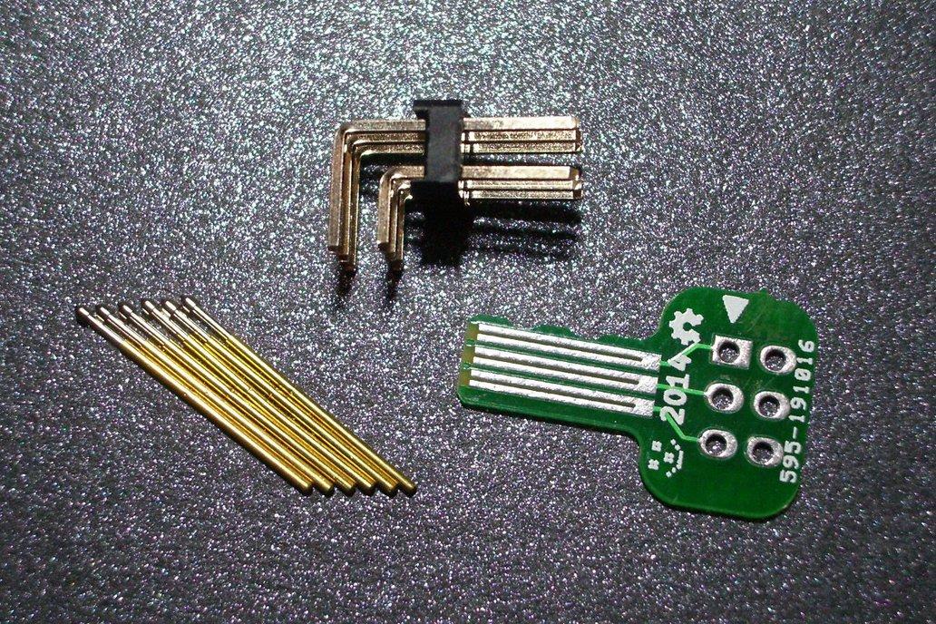 Tiny AVR-ISP pogo-pin programming adapter 4