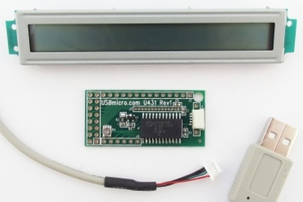 U431 USB LCD Interface w/cable w/LCD