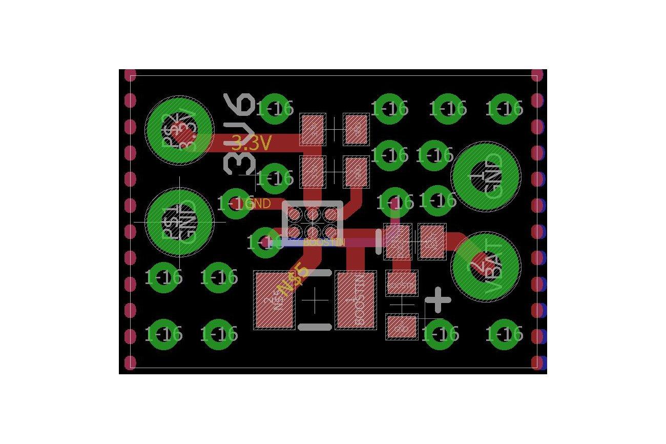 TPS610995 3.6 V Booster Board