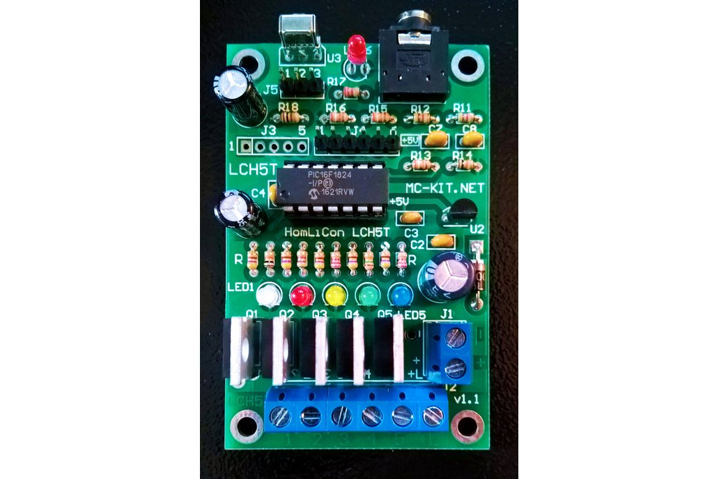 Color Organ 5 Channel PWM Controller LCH5T 9