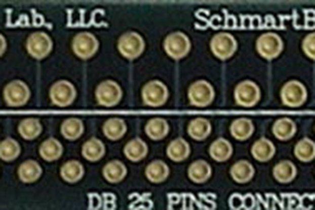 "Through Hole DB 25 Connector 0.5"" X 2"" Grid"