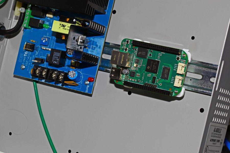 BeagleBone to DIN Rail, 3D Printed