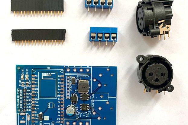 ESP8266/NodeMCU 2 Universe DMX Board