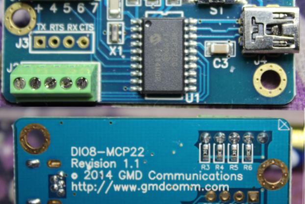 USB to UART w/8 selectable Digital I/O