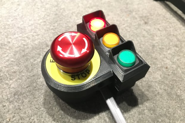 Emergency Stop Switch with LED indicators