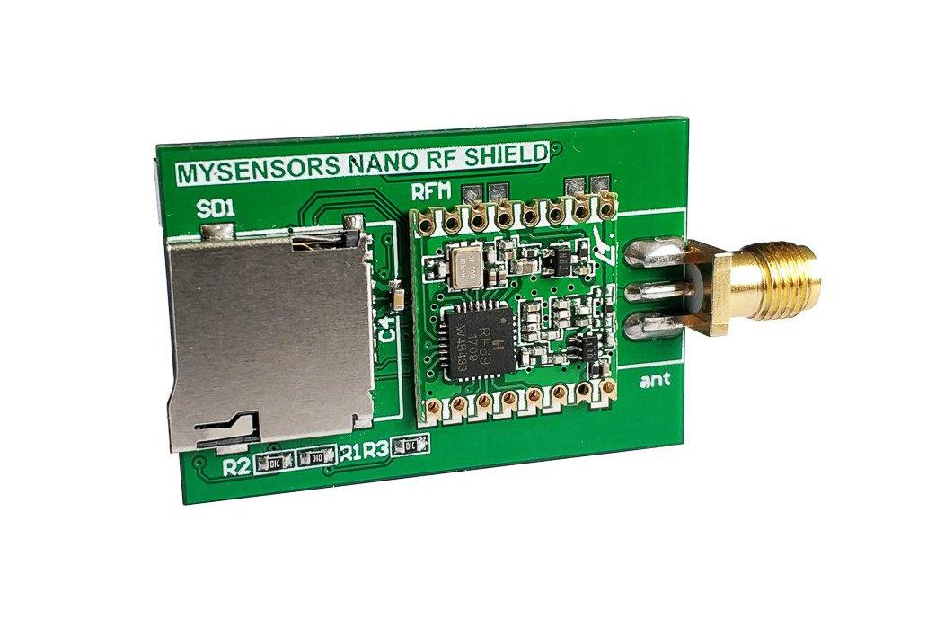 Arduino Nano radio shield for RFM 69 or NRF24L01+ 2