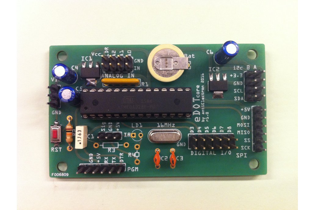 eDOTcore. Arduino compatible board w embedded RTC 1