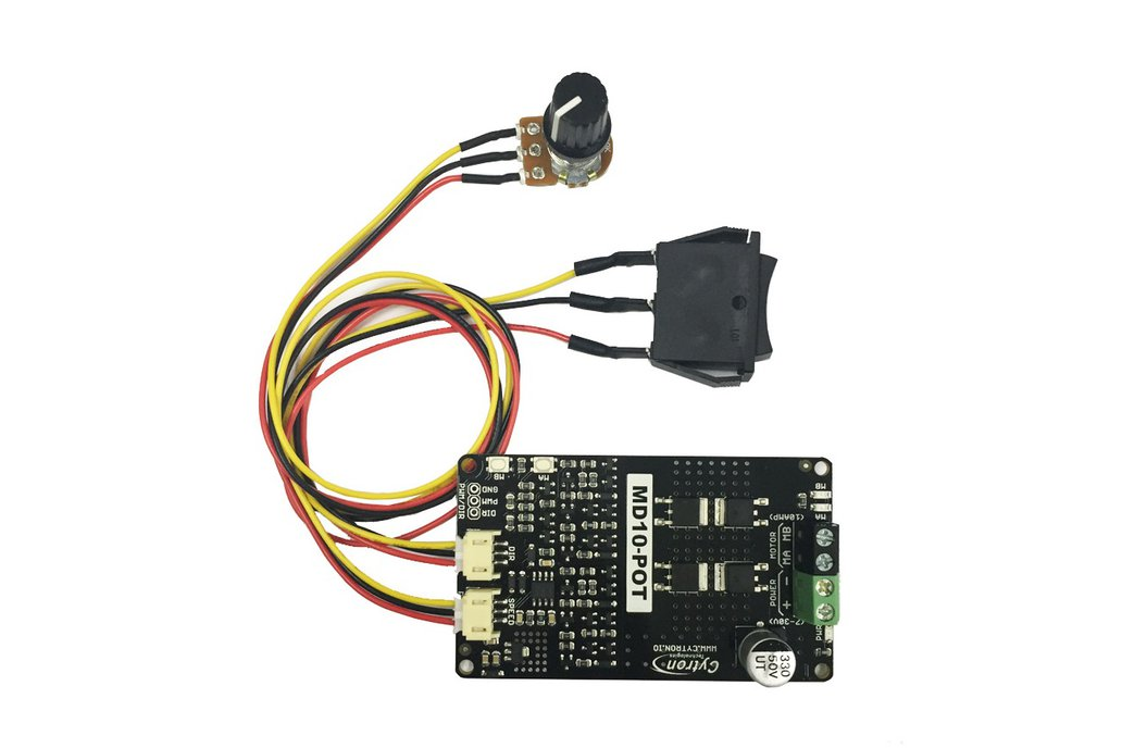 Potentiometer + Switch Control 10A DC Motor Driver 1