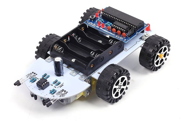 C51 Track Obstacle Avoidance Smart Car Kit (13029)
