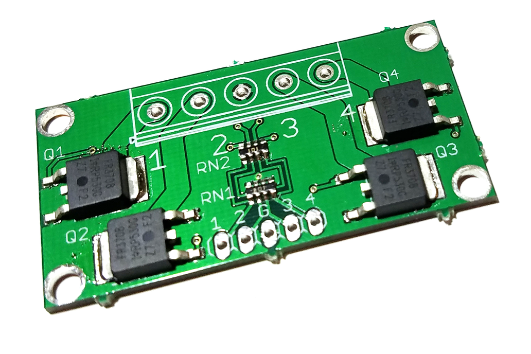 4-CH 2.8V logic level MOSFET board up to 30V/60A 1