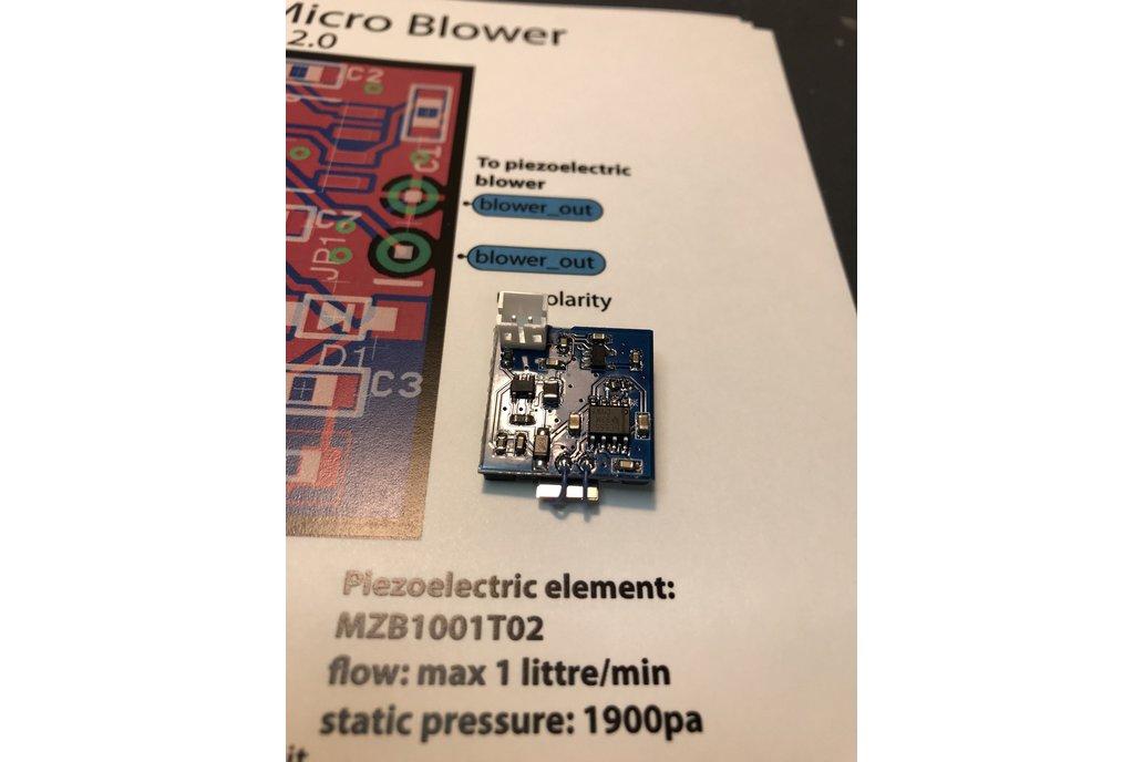 Piezoelectric micro AIR blower version 2.0 1